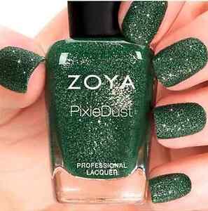 ZOYA PixieDust ZP699 CHITA green matte sparkle nail polish lacquer ...