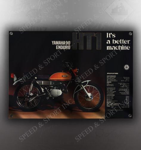 VINTAGE YAMAHA ENDURO 90 HT1 MOTORCYCLE BANNER