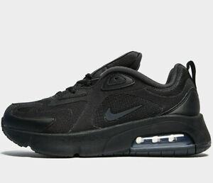 2020-Nike-Air-Max-200-GS-UK-Taglia-6-5-EUR-40-triplo-nero-piu-recente-NUOVO