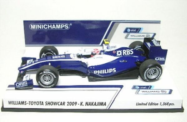 Williams-toyota no. 17 K.NAKAJIMA FORMULA 1 Showcar 2009