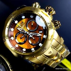 Invicta Reserve Venom Gold Plated Steel Brown MOP Swiss Mvt Chrono 53mm Watch