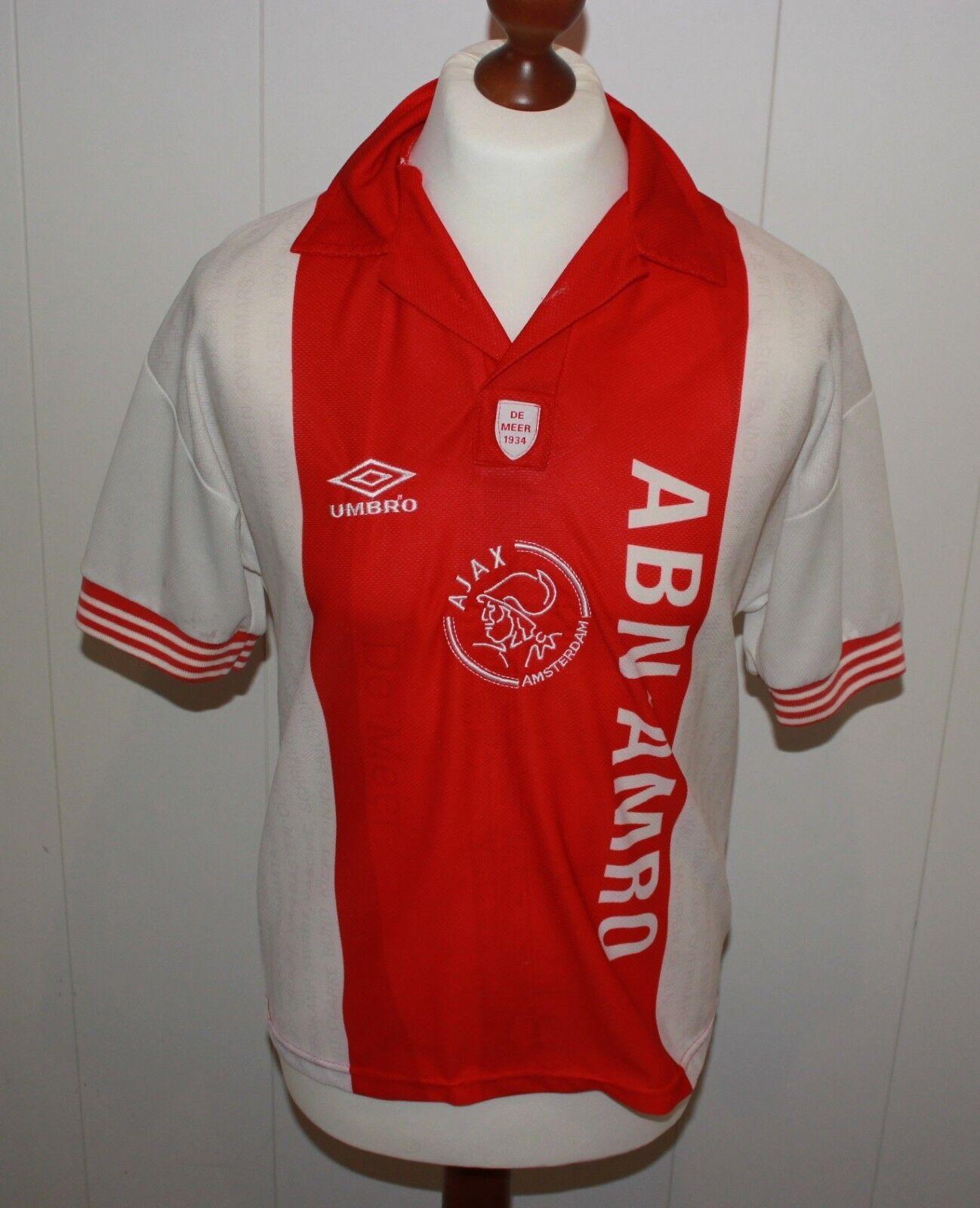 UMBRO AFC AJAX AMSTERDAM DE MEER SPECIAL EDITION TRIKOT Gr S 95-96 (etikett 4)