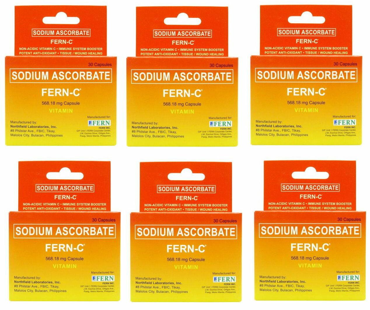 180 Capsules Fern C Non Acidic Alkaline Super Brand Vitamin C Sodium Ascorbate For Sale Online Ebay