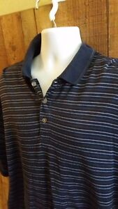 Donald-Trump-Signature-Collection-Men-Polo-Shirt-Sz-XL-Blue-Stripe