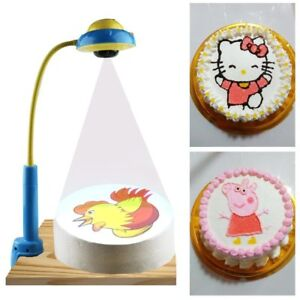 Image Is Loading DIY Children Cake Drawing Projector With 88 Patterns