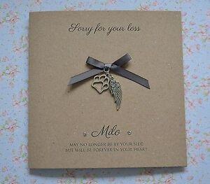 image is loading personalised pet bereavement card loss of pet sympathy