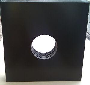 10x-Vinyl-Cover-SLEEVE-DICK-Doppelloch-Black-Leerhuellen-Huellen-Schallplatten