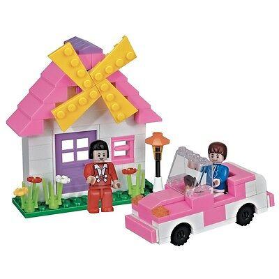 HOLIDAY HOME House Car Girls Construction Set Building Bricks Pink