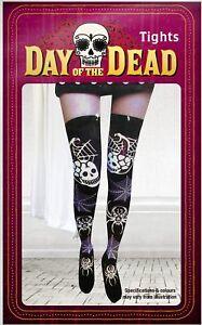 Halloween-Dia-de-los-Muertos-Arana-Calavera-Medias-Accesorio-para-Disfraz