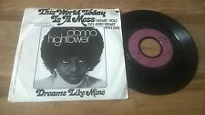 "7"" Pop Donna Hightower - This World Today Is A Mess (2 Song) MOTOWN pink label"