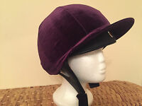 Riding Hat Silk Cover Equestrian Eventing Event Competition Velvet Velour