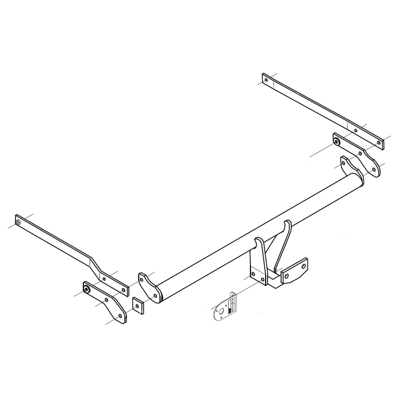 details about towbar for renault megane ii coupe cabriolet (cc) 2003-2010 -  flange tow bar