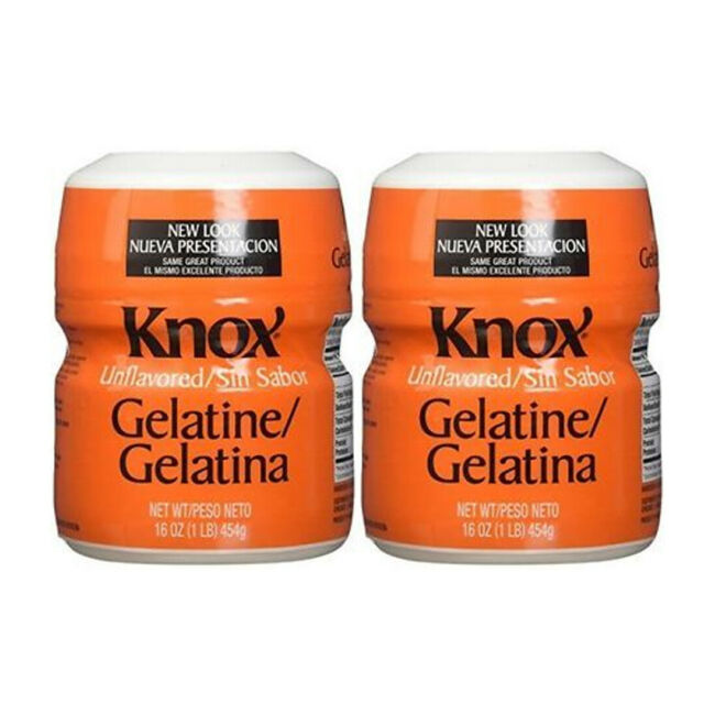 2 x 16oz Knox Original Gelatin Unflavored 1lb Per Cans, Pack of 2 FREE SHIPPING