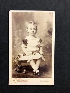 Victorian-Carte-De-Visite-CDV-Child-Owen-Salisbury-Boy-In-Dress-2-of-2