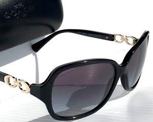 dbd42025f33 NEW  Coach L949 BLACK Gold Kissing C Grey Gradient lens Women s ...