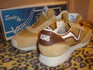 Vans Serio Runners 1986 Vintage Running Shoes 7 Uk 8d Usa Nos Sand Ebay