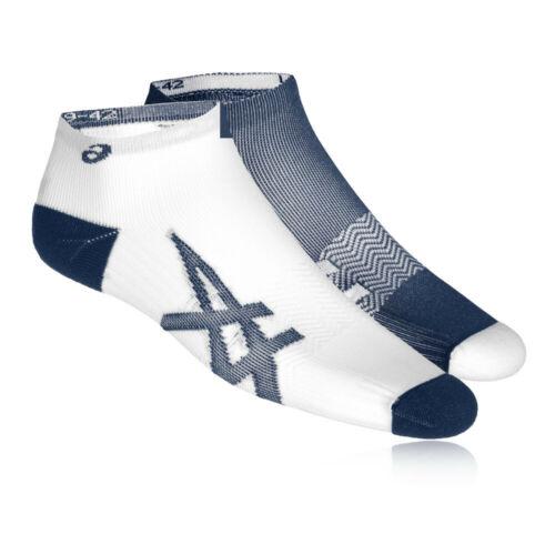 Asics Damen 2 Paare Leicht Laufen Socken Marineblau Weiß Sport Atmungsaktiv