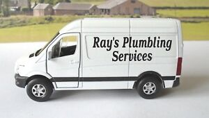 PERSONALISED-NAME-COMPANY-Mercedes-Sprinter-Van-Boys-Dad-Toy-Model-Present-Boxed