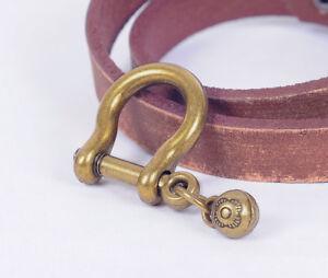 5 pcs Vintage Brass Shackle Joint Connect Key Chain Hook Leathercraft Hardware