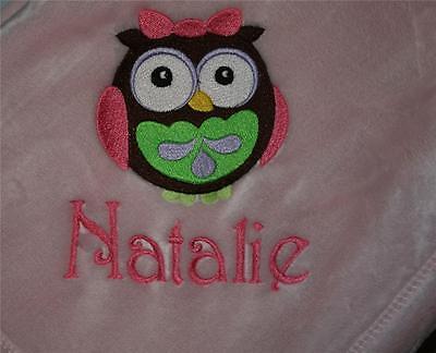 Embroidered Monogrammed Baby Blanket Tahoe Fleece Soft Boy or Girl
