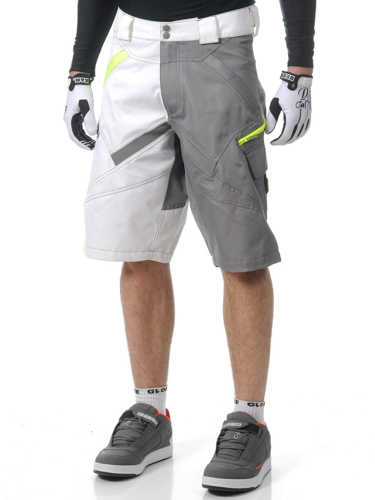 O'Neal MTB Stormrider Heavy Duty Durable Fabric Men Cycling Short grigio bianca 34