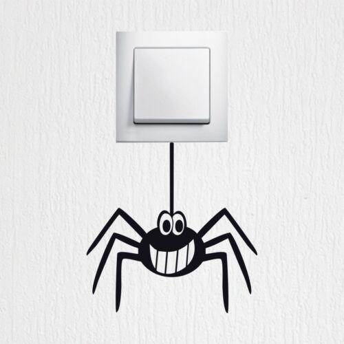 Wandtattoo lustige Spinne Aufkleber Lichtschalter