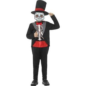 Black-Day-Of-The-Dead-Suit-Halloween-Kids-Boys-Childs-Fancy-Dress-Costume