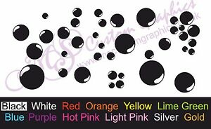 38-x-BUBBLES-Sticker-Pack-A5-Sheet-Car-Bathroom-Wall-or-Tile-Decal