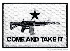 COME AND TAKE IT 2nd AMENDMENT PATCH iron-on embroidered ASSAULT RIFLE AR15 FLAG