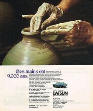 PUBLICITE ADVERTISING   1973   DATSUN  120 A COUPE