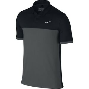 e54217f2 NIKE GOLF TOUR ICON COLOR BLOCK POLO BLACK, GREY 725527-010 MENS ...