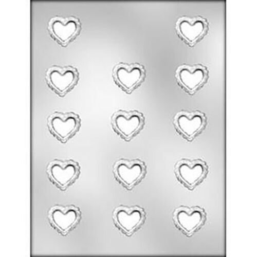 Heart Filigree Small Chocolate Mould Valentine or Wedding Mould