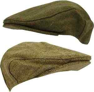 Mens-Tweed-Flat-Cap-Country-Derby-Wool-Shooting-Hat-New-Teflon-Coated-Hunt