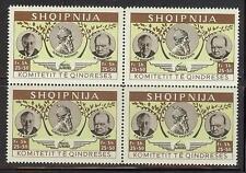 Germany Italy 1941 propaganda for Albania Air 25fr+50sh block 4 MNH Cinderella