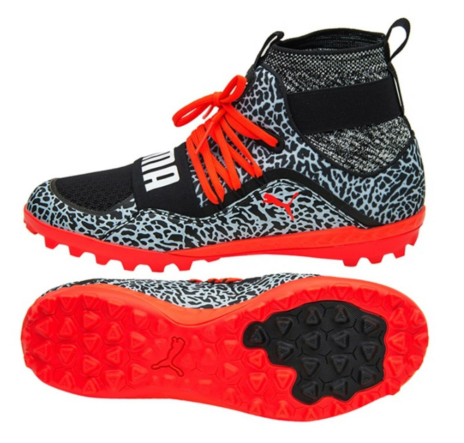 Puma Para Hombre Botines De Fútbol 365.18 Ignite High St Zapatos De Futsal negro con puntas de 104703-01