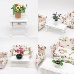 Mini-Dollhouse-Miniature-Gruenpflanze-Blume-im-Topf-Fee-Garten-Zusatz-Dekor-Heiss