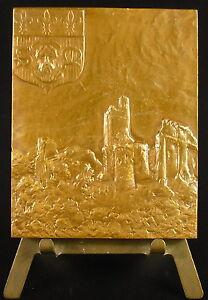 Medaille-1968-Limousine-en-coiffe-ruines-du-Chateau-de-Ventadour-Correze-Medal