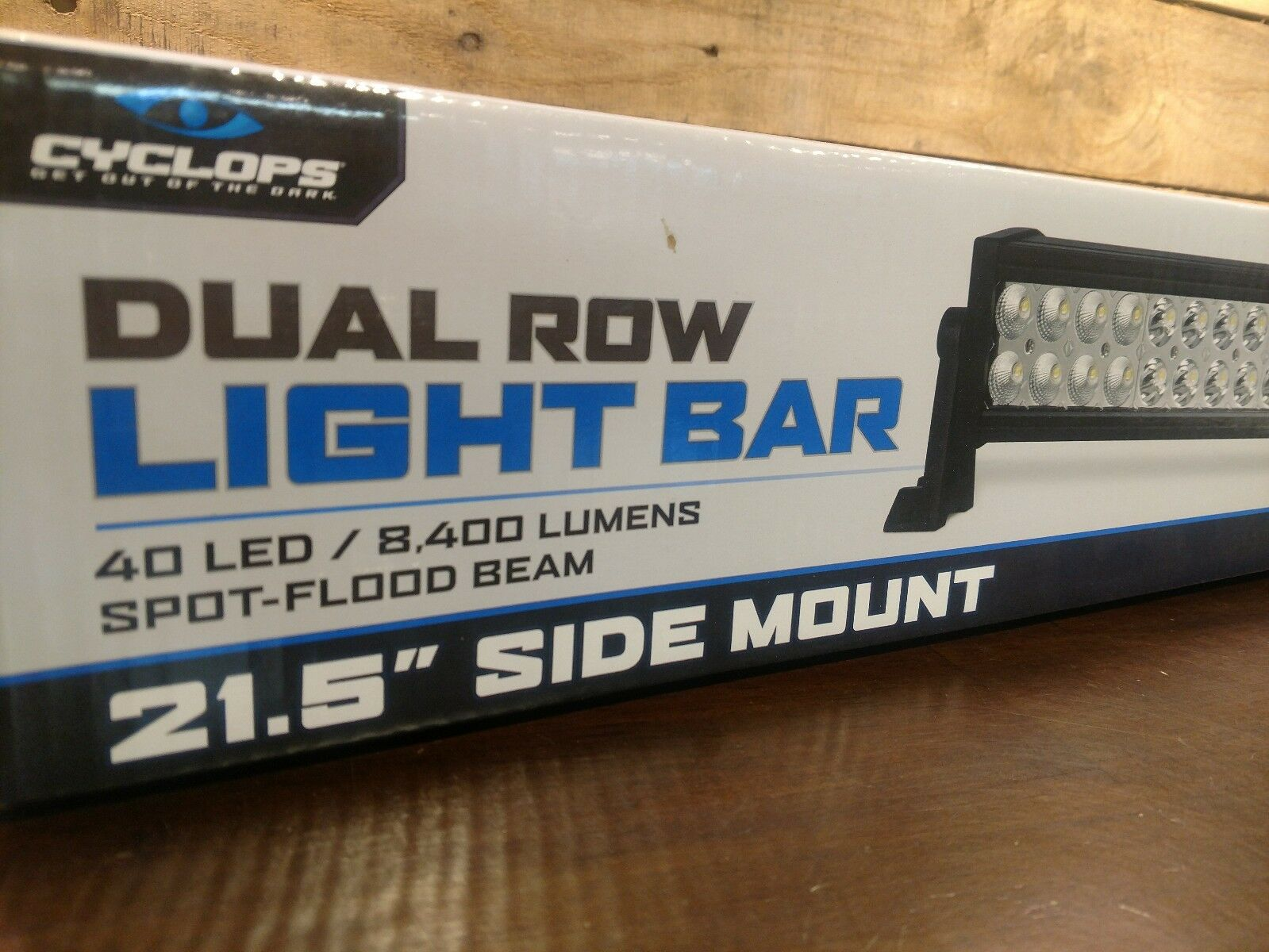 Cyclops Light Bar - DUAL ROW SIDE MOUNT - 120W
