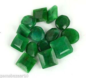 Green-Emerald-Gemstone-Lot-100-Ct-14Pcs-Natural-Mix-Shape-Brazilian-Loose