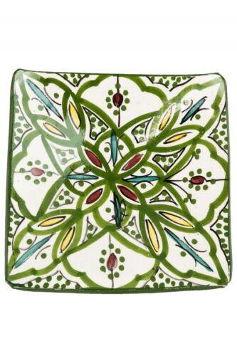 Coloured Ceramic Plate Ceramic Bowl Dish Plate Mediterranean Square Decoration Colourful