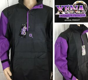 Vintage-XENA-Warrior-Princess-Jacket-Windbreaker-Anorak-Rain-Parka-Unisex-S-NWT