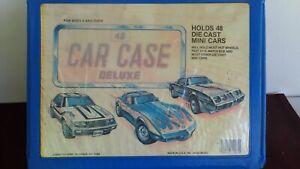 Vintage-Tara-Toy-Corp-48-Car-Case-Deluxe-holds-Hot-Wheels-Matchbox-Lesney-1-64