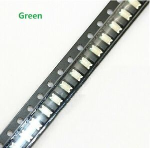 100 pcs SMD SMT 1206 Super bright GREEN LED lamp Bulb GOOD QUALITY  348643477637