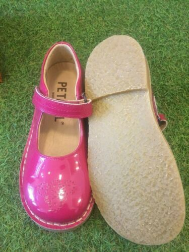 Petasil Celina Fuxia Pink Patent Leather Mary Jane