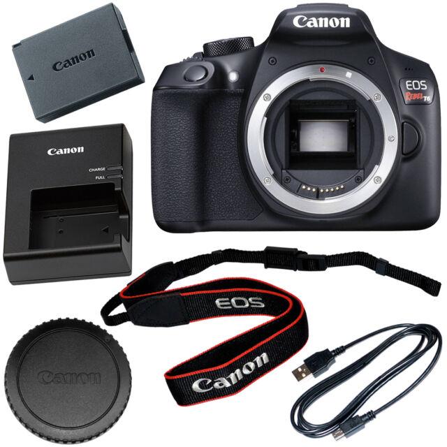 Canon Eos Rebel T6 1300d Digital Slr Camera Body Only