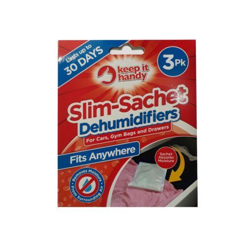 voitures 3pk Slim-Sachet Déshumidificateurs Humidité Moisissure-Gym Sacs tiroirs