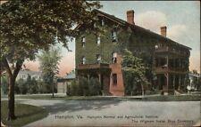 Hampton VA Wigwam Indian Boys Dormitory c1910 Postcard