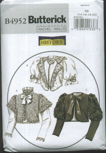BUTTERICK 4952 Victorian Jacket Costume Sewing Pattern OOP