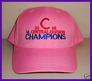 Image is loading Chicago-Cubs-2008-Central-Division-Champions-Pink-Hat- 8345567f726
