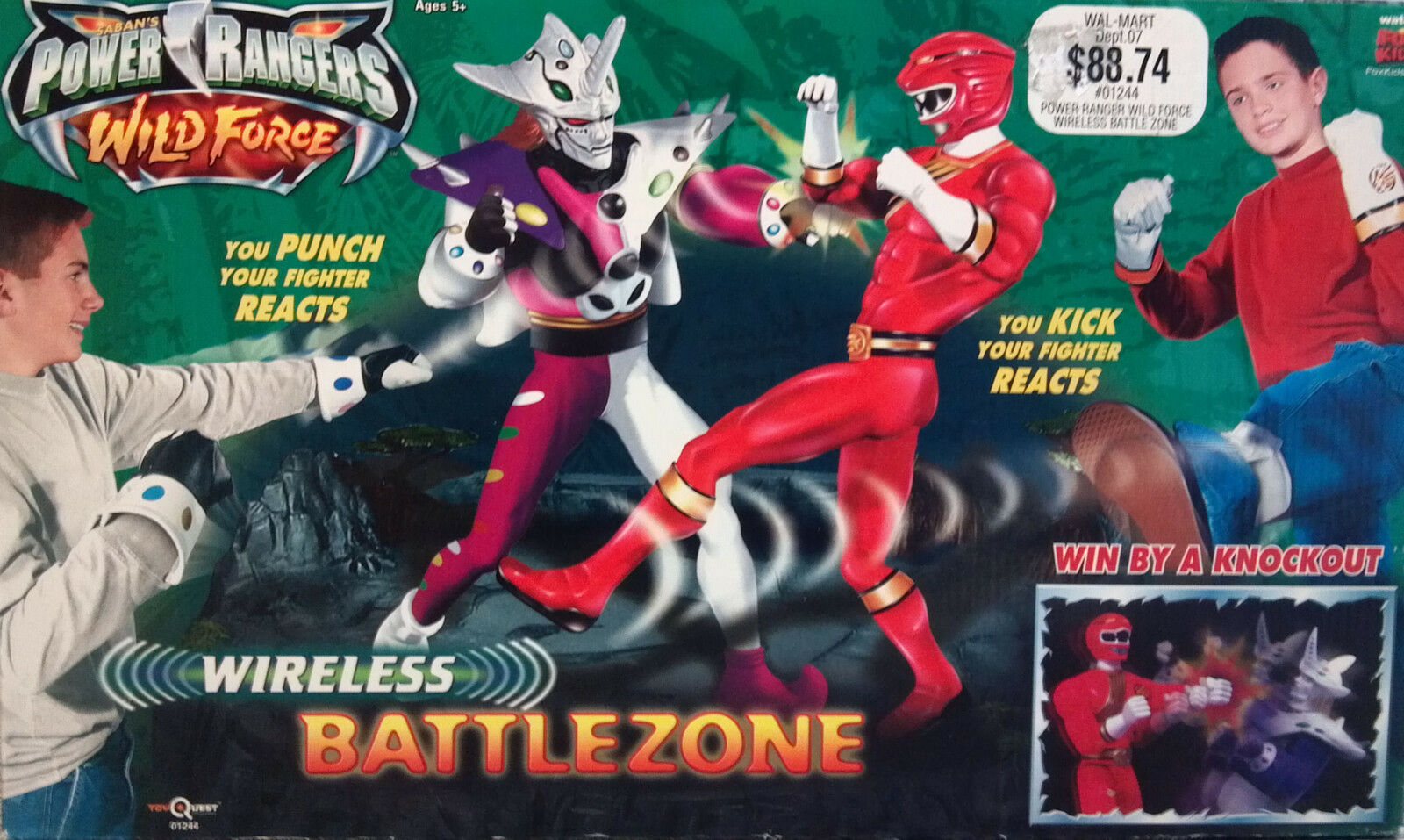 POWER RANGERS WILD FORCE WIRELESS BATTLEZONE (NEW SEALED)